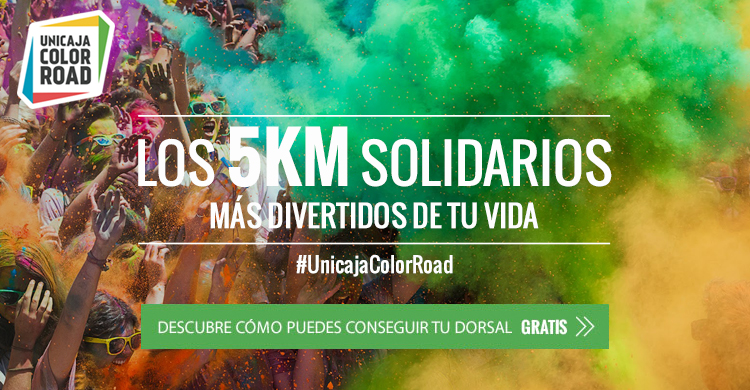 #UnicajaColorRoad. Los 5km solidarios más divertidos de tu vida.