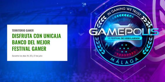 actividades Unicaja Banco en Gamepolis 2019